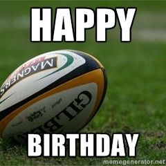 Happy Birthday Rugby Ball Rugby Ball Rugby Happy Birthday