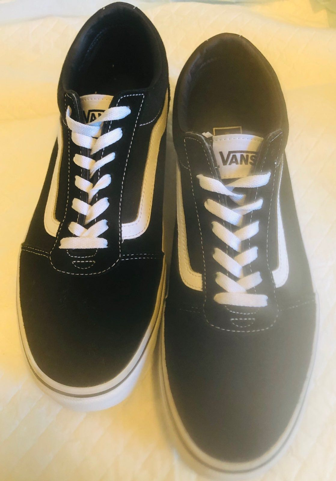 Vans classic skate shoe. White side