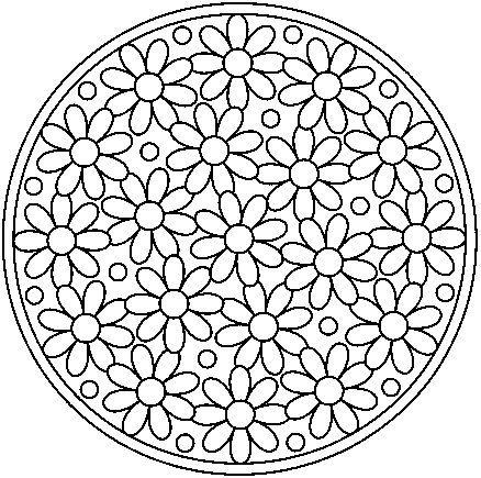 Wonderbaarlijk A Few Parchment Craft Mandala Patterns | Mandala kleurplaten EY-27