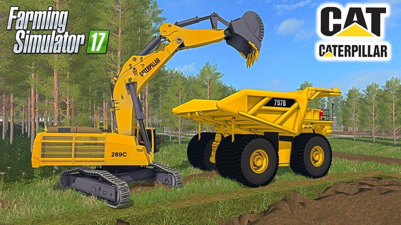 Digging & Moving Dirt   CAT Excavator 289C, Mining Truck