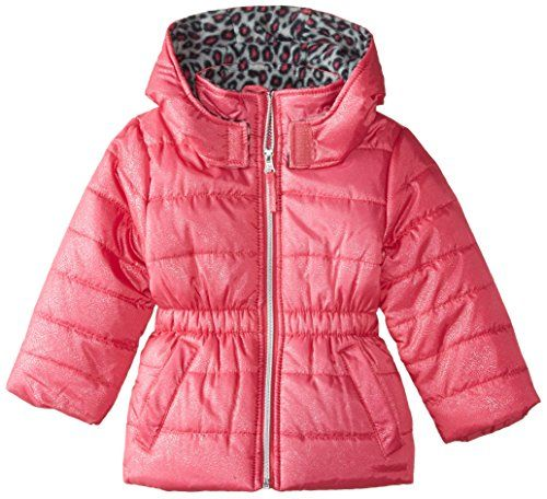e41b39b97ea44c Pink Platinum Little Girls  Puffer Coat with Foil Spray     Details can be  found at