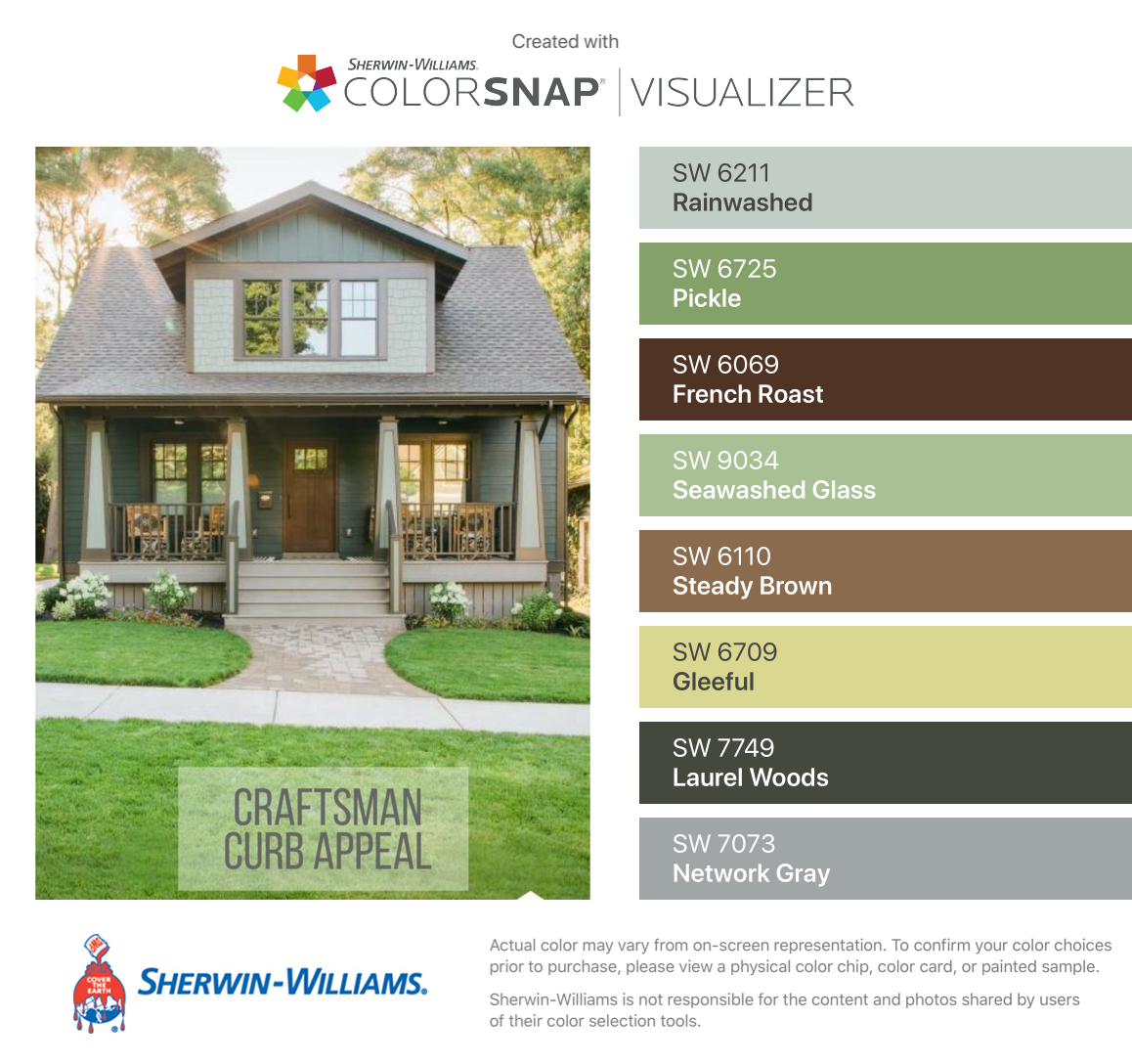 I Found These Colors With Colorsnap Visualizer For Iphone By Sherwin Williams House Exterior Color Schemes Craftsman Bungalow Exterior Exterior House Colors
