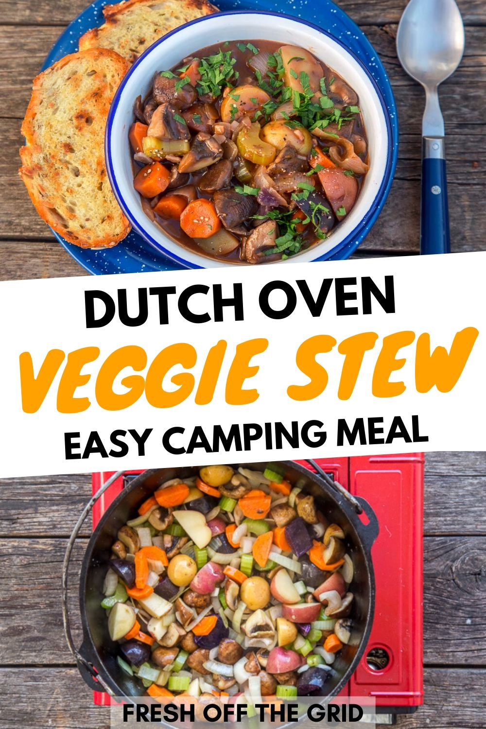 Dutch Oven Vegetable Stew Fresh Off The Grid Recipe In 2020 Dutch Oven Recipes Easy Camping Meals Vegetarian Dutch Oven Recipe