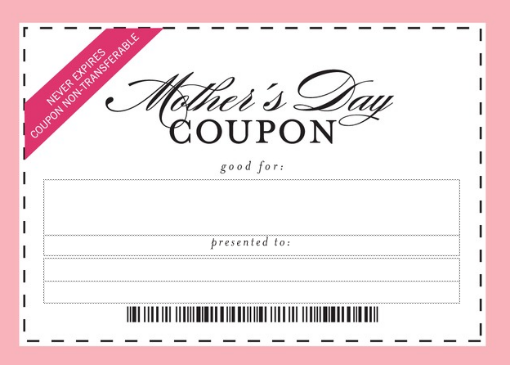 Mother's Day Coupon | mothers day | Pinterest | Coupons
