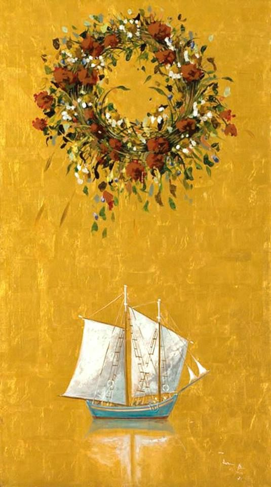 May's wreath ( garland of flowers) by Spyros Vassiliou. Σπύρος ...