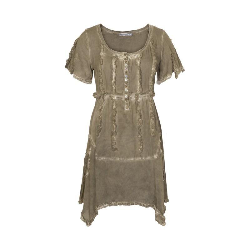 7c0d321efe66 Fantastisk smuk olivengrøn kjole fra Occupied