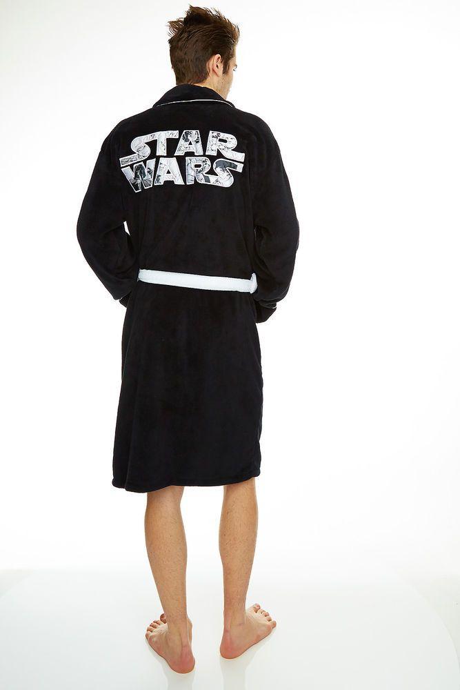 Star Wars LOGO unisex adult fleece dressing gown / bathrobe / robe ...