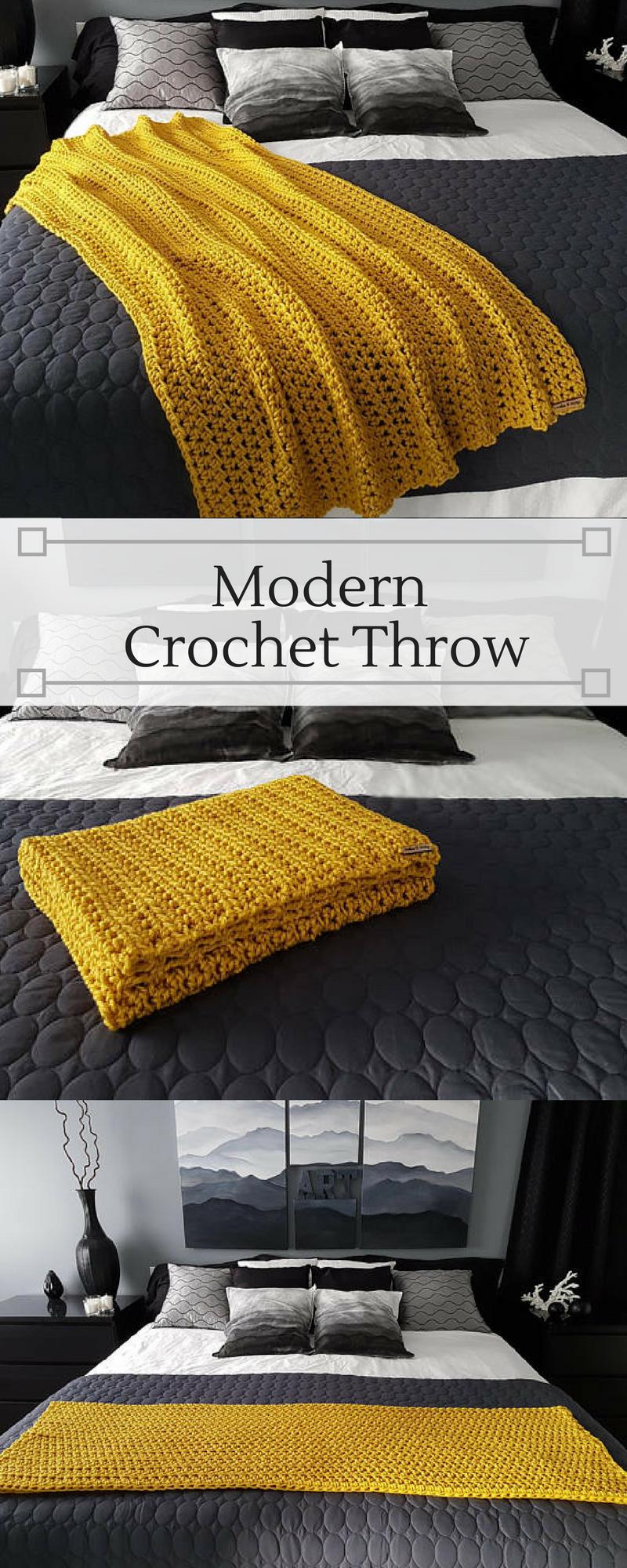 Mustard Yellow Crochet Blanket Afghan Chunky Crochet Throw Blanket Modern Chunky Throw Ye Chunky Crochet Throw Blanket Chunky Crochet Throw Yellow Blankets