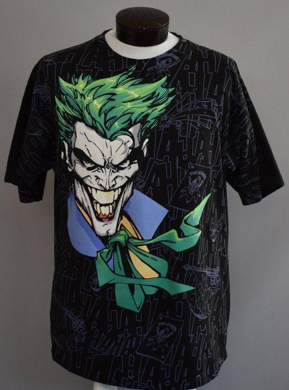 e60cf0e69fda8 Vintage The Joker T-shirt, Batman Villain Tee, DC Comics Shirt, Size ...