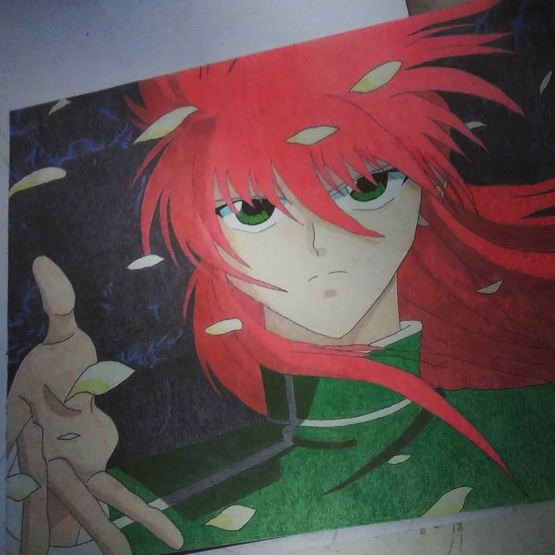 Sketch Drawing Draw Practice Color Kurama Yuyuhakusho Anime Anime Drawings Instagram