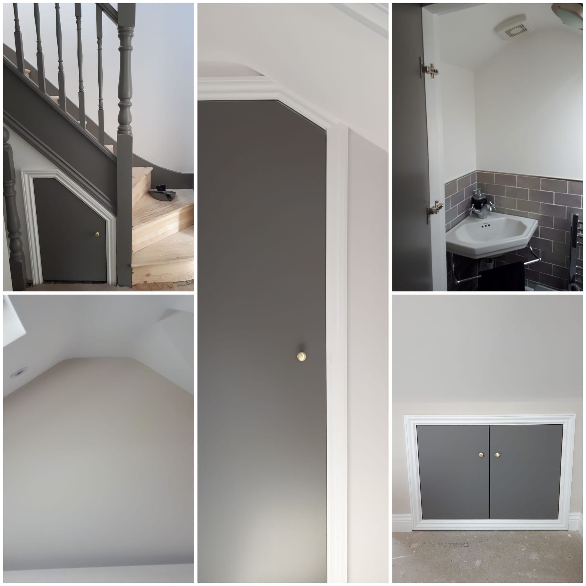 #Loft Conversion In Grey And White. #Grey Woodwork