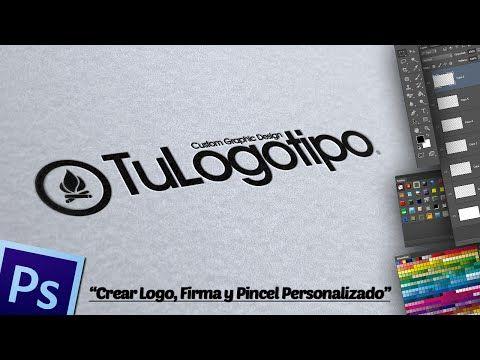 Crear Logo Firma Y Pincel Personalizado En Photoshop Youtube Crear Logos Photoshop Tutoriales Photoshop