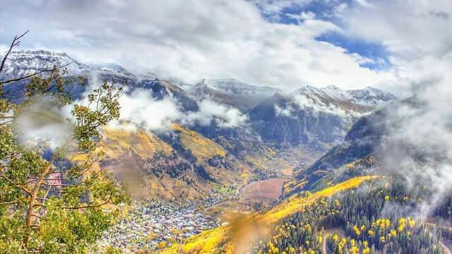 Snow in Telluride, Co. Today October 5, 2015.