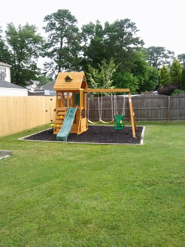 Big Backyard Ridgeview Deluxe Playset From Toys R Us Installed In Beachwood Nj Backyard