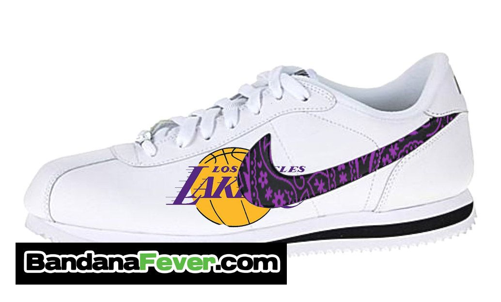 bf38bbbd8aa49 Nike Los Angeles Lakers Purple Bandana Cortez by BandanaFeverShoes ...