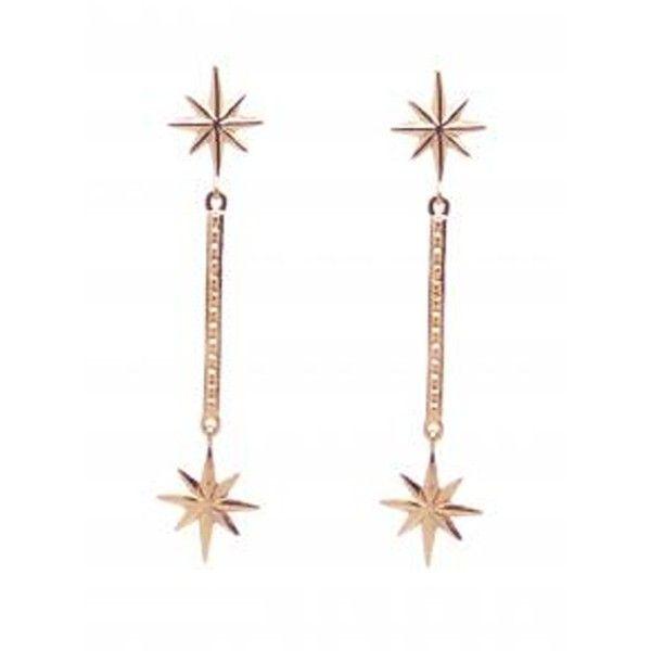 MARTE FRISNES JEWELLERY Colette Drop Earrings Rose Gold 3546430