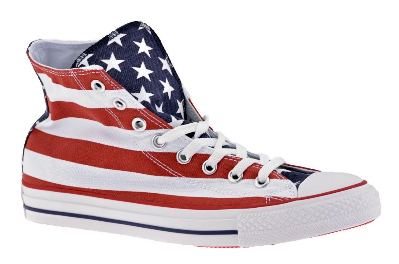 6b24aa598f6ff Converse All Star CT Hi Flag Sportive alte Bianco Rosso Blue ...