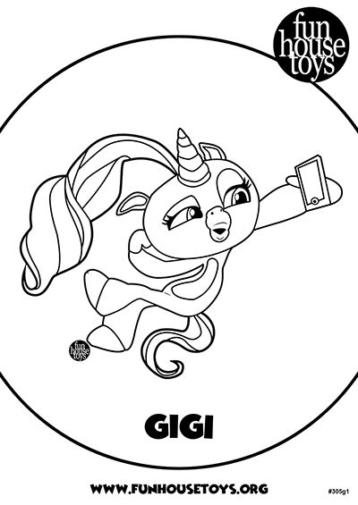 Fingerlings Printable Coloring Pages Visit funhousetoys.org ...