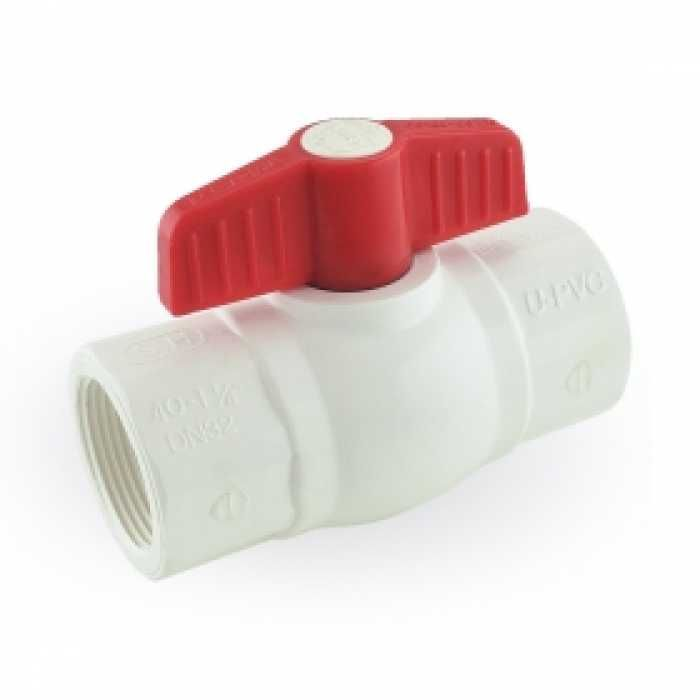 1 1 4 Pvc Ball Valve Fpt Threaded Sch 40 80 Pvc Valve Ball