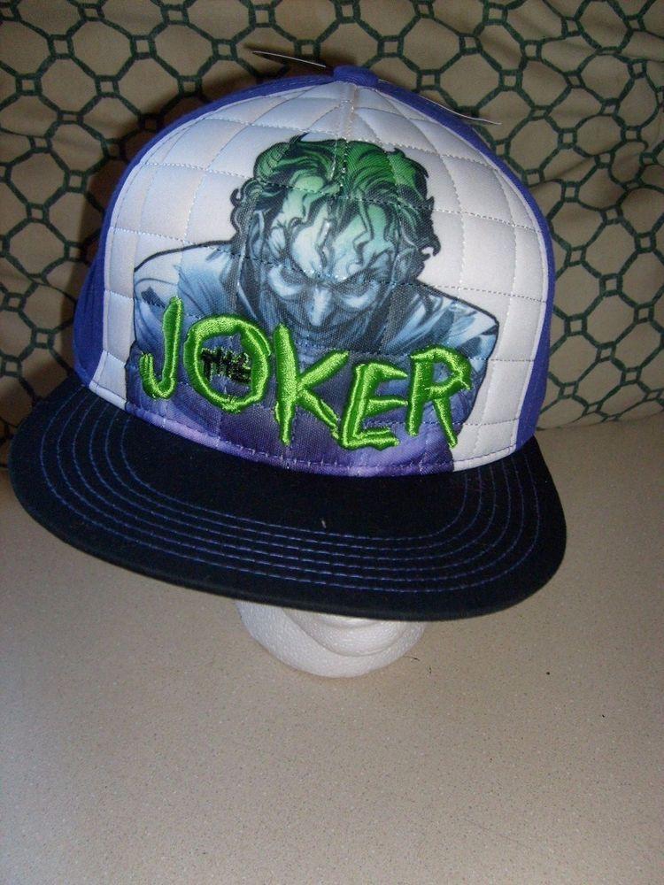 08151af1d Dc comic batman joker snapback adjustable flat brim hat cap new ...