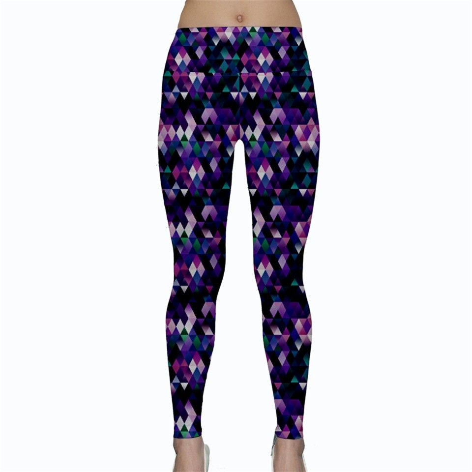 Amethyst Mountains. Amethyst Mountains Yoga Leggings.  Design a pair of these fully customizable low rise yoga leggings so you can work out in style! Simply pair these with a tank top or mesh sport tees and you can look fabulous whether you're hitting the gym, at the dance studio or off on your morning run at the park!     Made from 90% Polyester, 10% Spandex Soft, stretchy, lightweight and quick drying fabric Low rise Fully customizable Hand wash in cold water only Designs imprinted using…