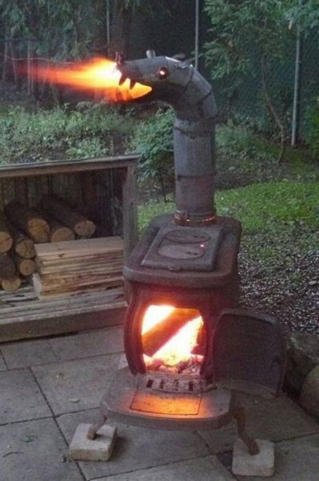 Summer Deck Made From Pallets Upcycled Garden Outdoor Wood Stove Wood Burner