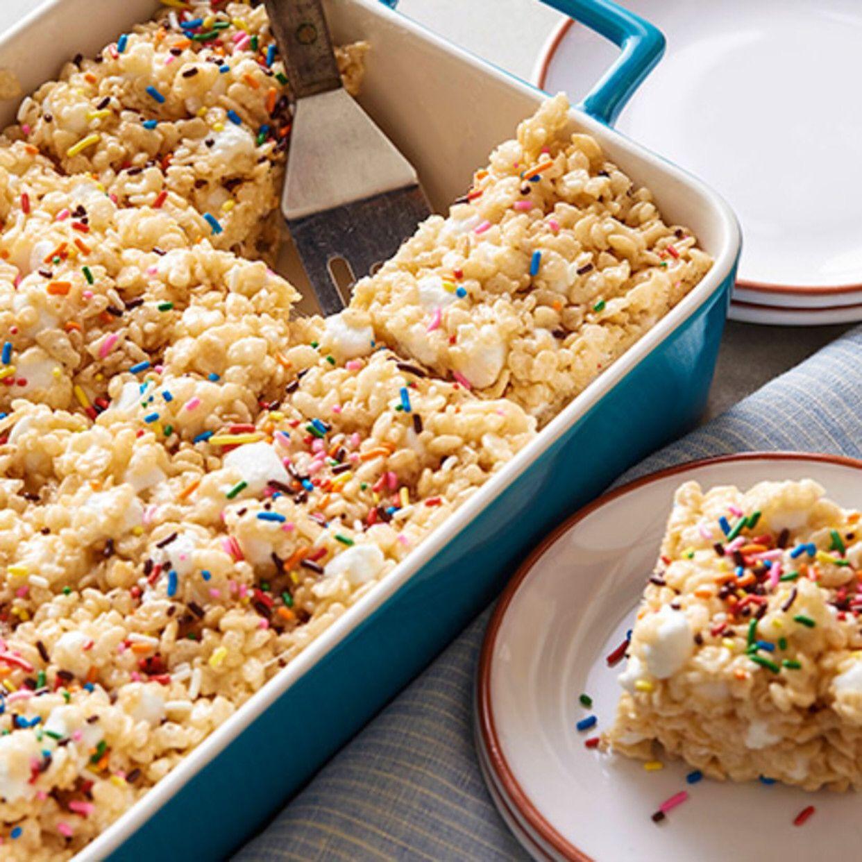 Marshmallow Crispy Treats #crispytreats