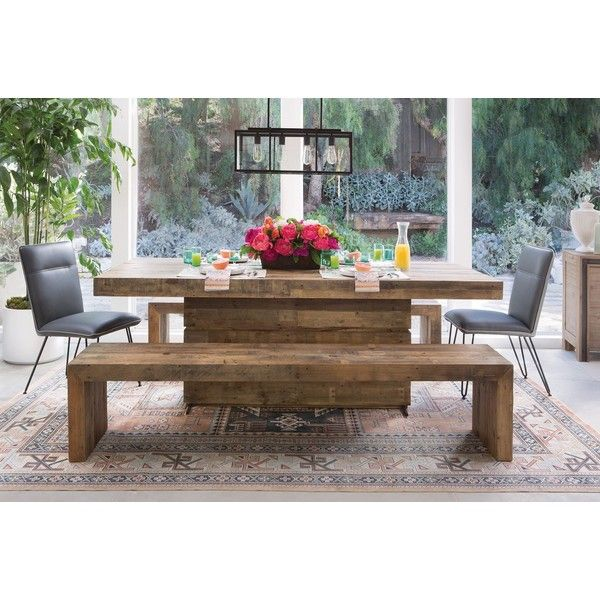 Tahoe Ii 89 Inch Dining Table Liked On Polyvore Featuring Home