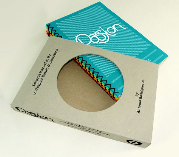 Dando uma aula de como fazer uma boa embalagem!  Embalagem para livro sobre Lições de um designer.  Por Antonio Rodrigues