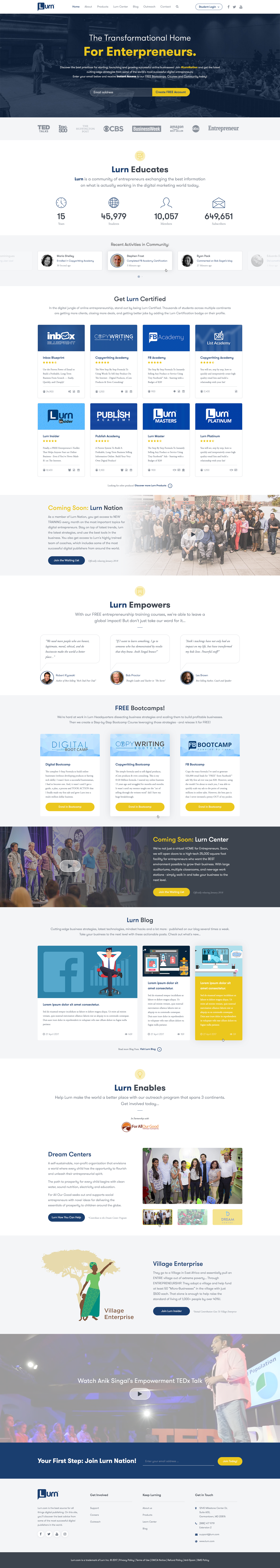 Design #10 by Dunx Design | Big Payout! New Home Page/Brand Site For ...
