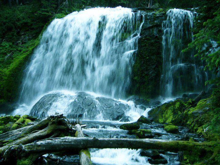 Tumalo Falls in Bend, Oregon. Great hiking and mountain biking!