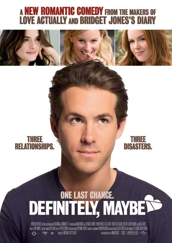 Definitely Maybe 11x17 Movie Poster 2008 Comedy Movies Romantic Comedy Romantic Movies