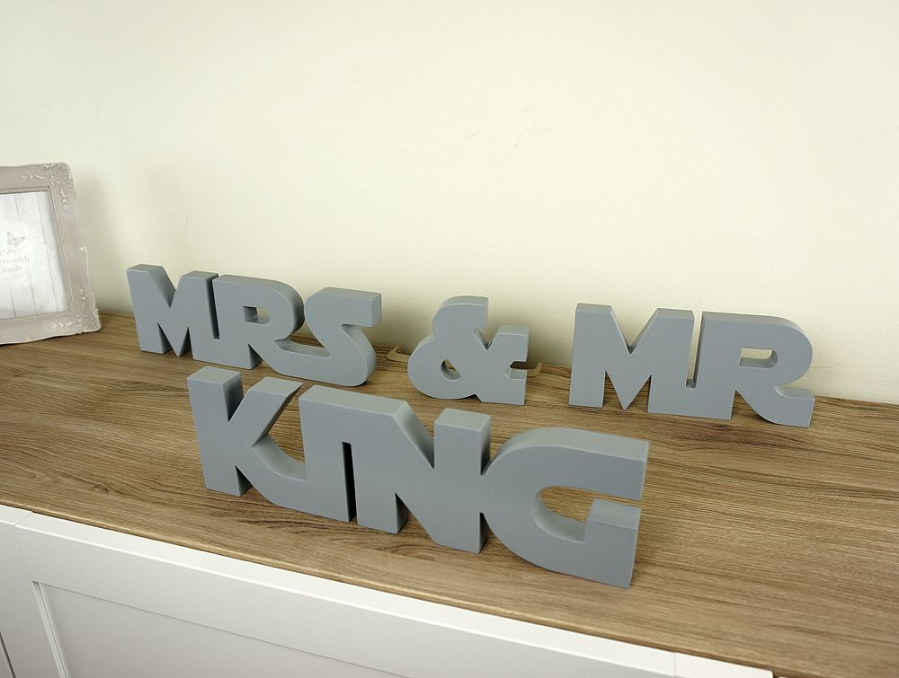 Wooden Wedding Star Wars Mrs And Mr Table Decorations Wooden