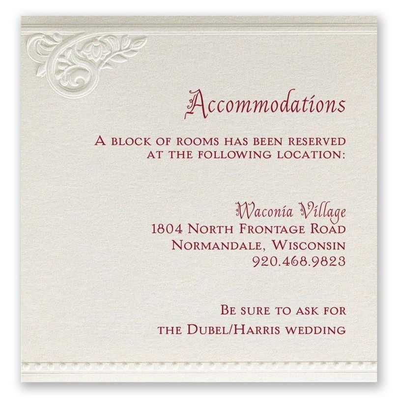 24 Elegant Image Of Accommodation Wording For Wedding Invitations