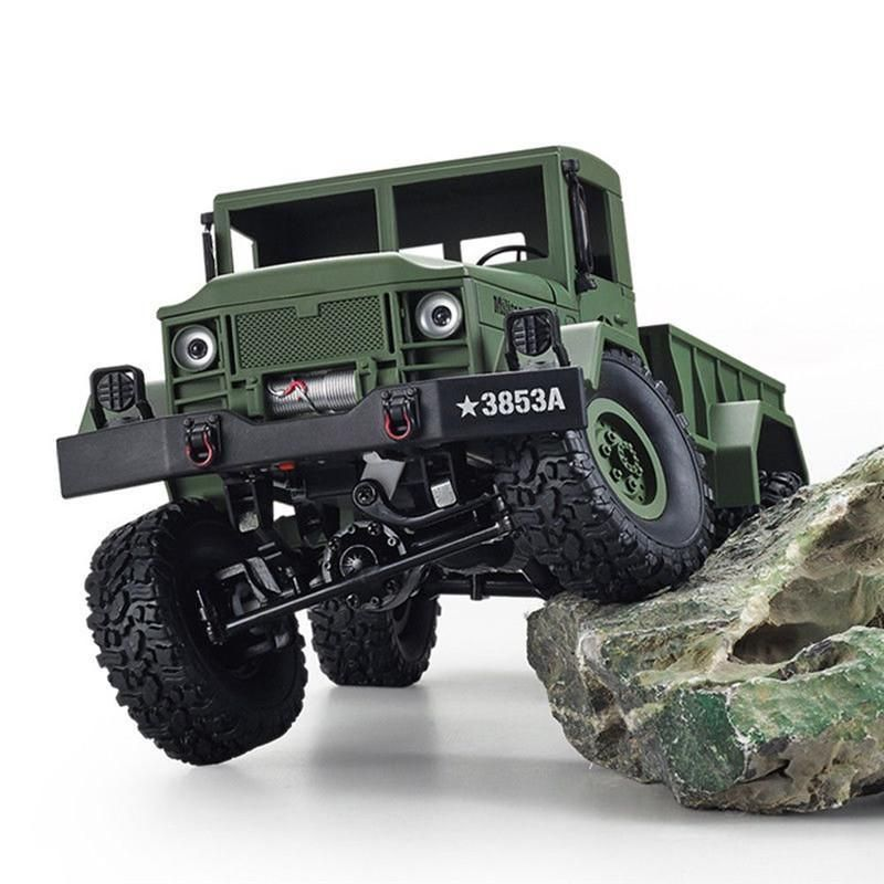 Remote Control Car 1/16 2 4G 4Wd Off-Road Rc Military Truck