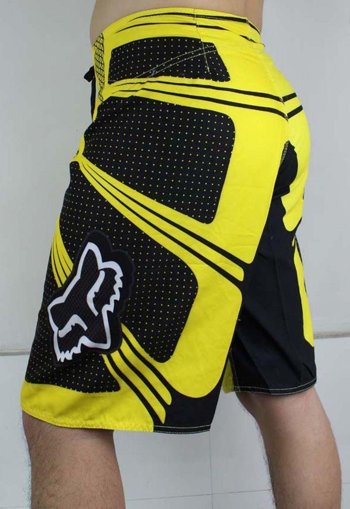 Yellow Fox Mens Board Shorts Surf Shorts Boardshorts Beach Pants