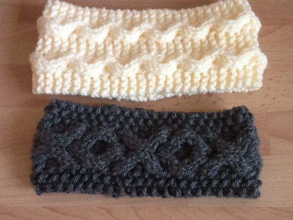 Just Done In Time For Christmas Cable Headbands K Pattern Is In My