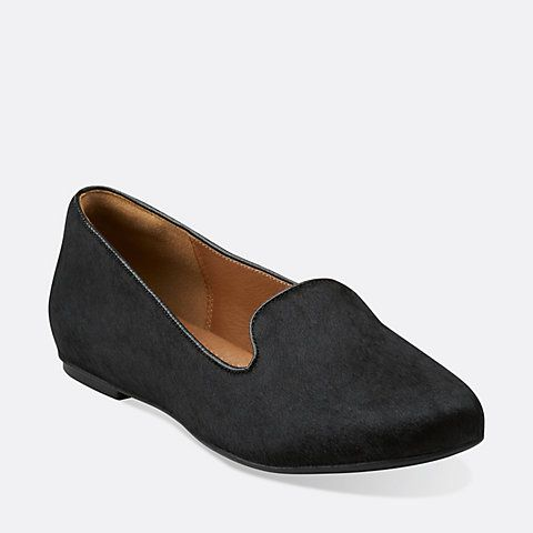 Hair Flats Pony Womens Valley Black Lounge Leather pCqtxnZSw