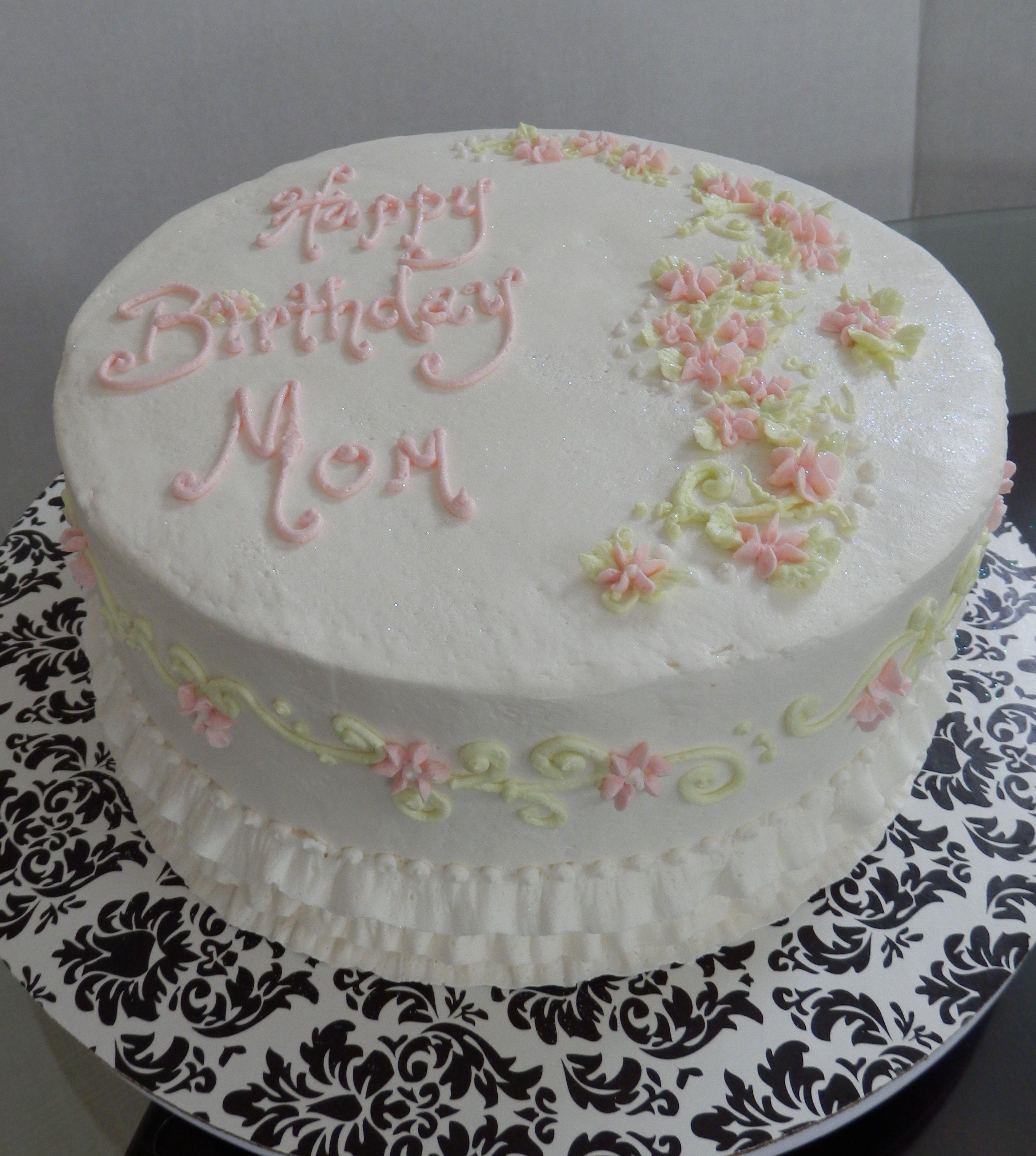 Simple Birthday Cake For Mom Mother Birthday Cake