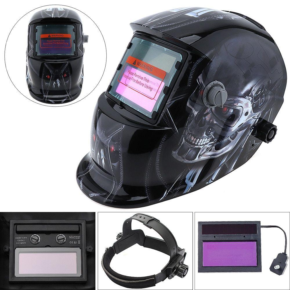 Solar Auto Darkening Welding Helmet Mask Grinding Welder Protective Gears TEUS