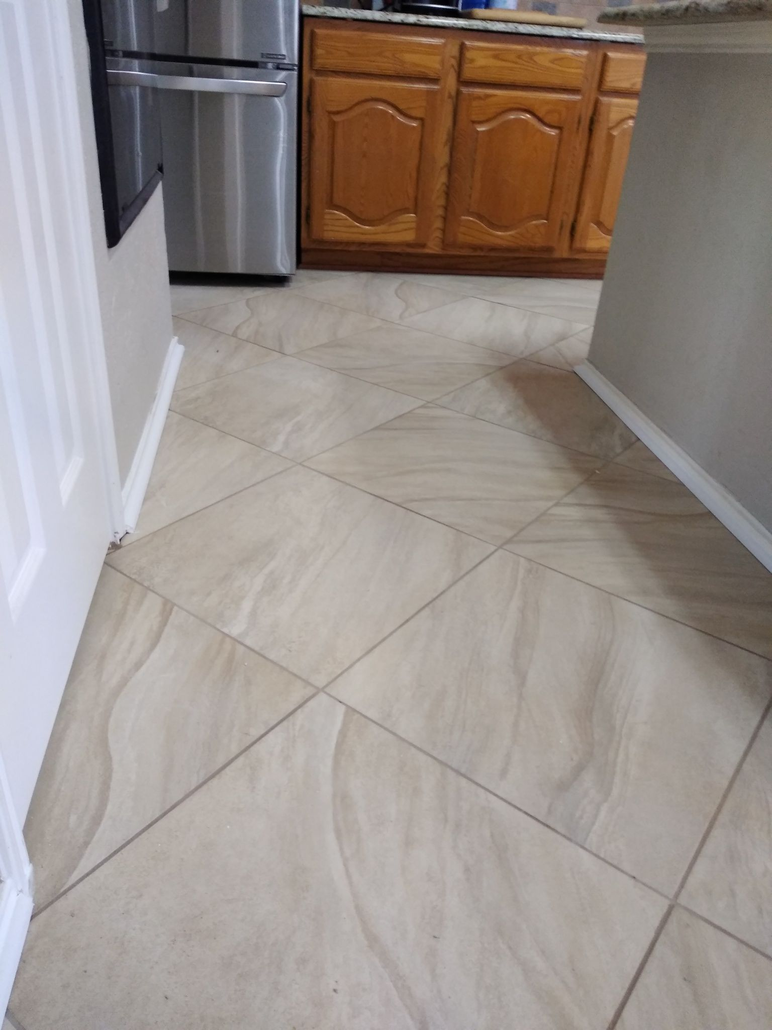 diagonal tile floor stone flooring