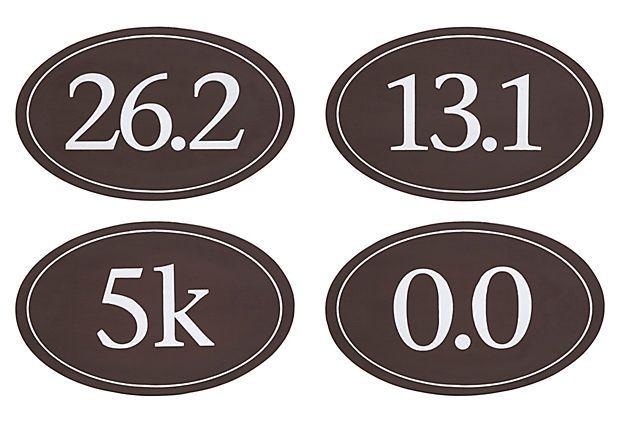 Runners Plaques- Marathon bound!  Asst. of 4 Runner Plaques on OneKingsLane.com