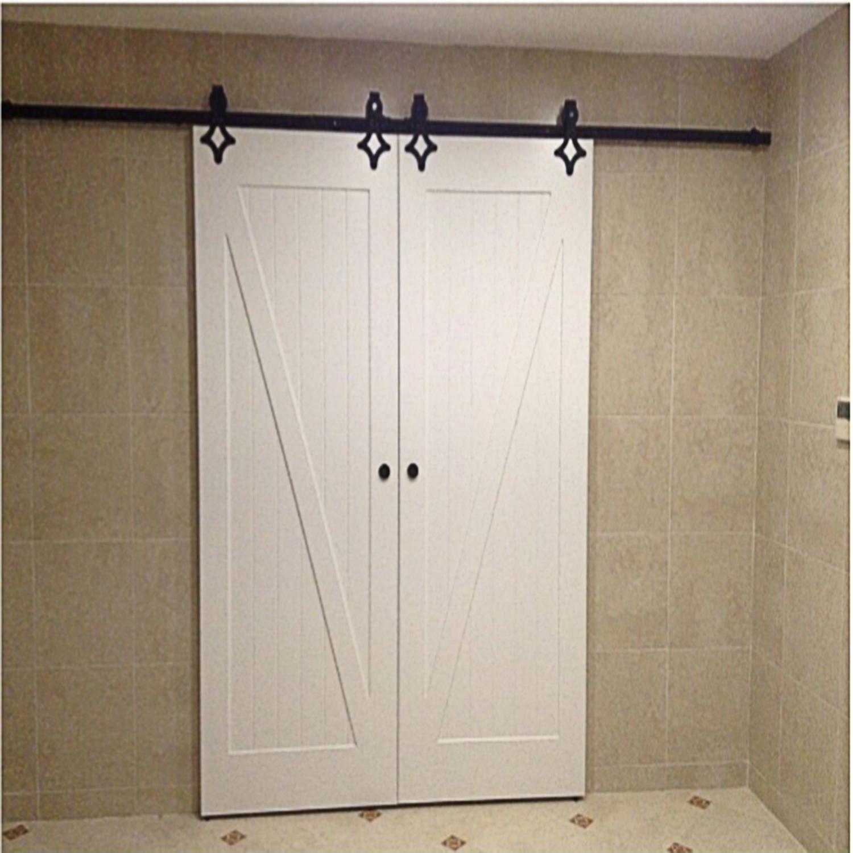 Closet fice Bathroom Closet Sliding Doors Sliding Door Hardware Wood Doors Door Ideas Master Bathrooms Master Bedroom Redo Barn Door Closet
