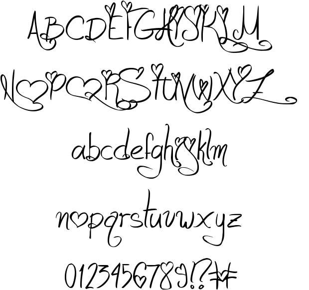 Jellyka - Love and Passion font.........cute font to write ...