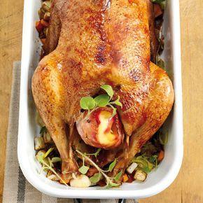 6-Stunden-Gans mit Speckäpfeln #thanksgivingrecipessidedishes