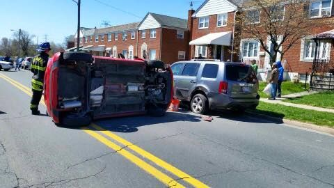 EARLIER TODAY MOTOR VEHICLE ACCIDENT WITH ROLLOVER IN THE