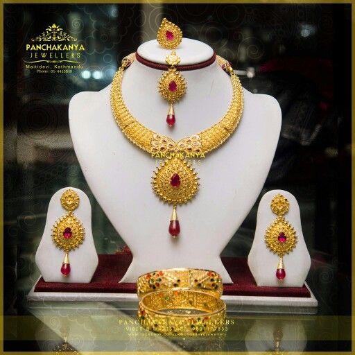 Beautiful Wedding Set 22k Jewelleries Nepali Jewellery Gold Jewellery Silver Jewellery Instagram Gold Wedding Jewelry Nepali Jewelry Gold Rings Jewelry