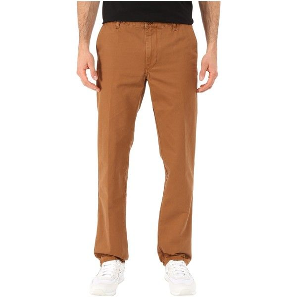 Quiksilver Everyday Chino (Bear) Men's Clothing ($28) ❤ liked on Polyvore featuring men's fashion, men's clothing, men's pants, men's casual pants, brown, mens zipper pants, mens chinos pants, mens brown pants, mens zip off pants and mens convertible pants