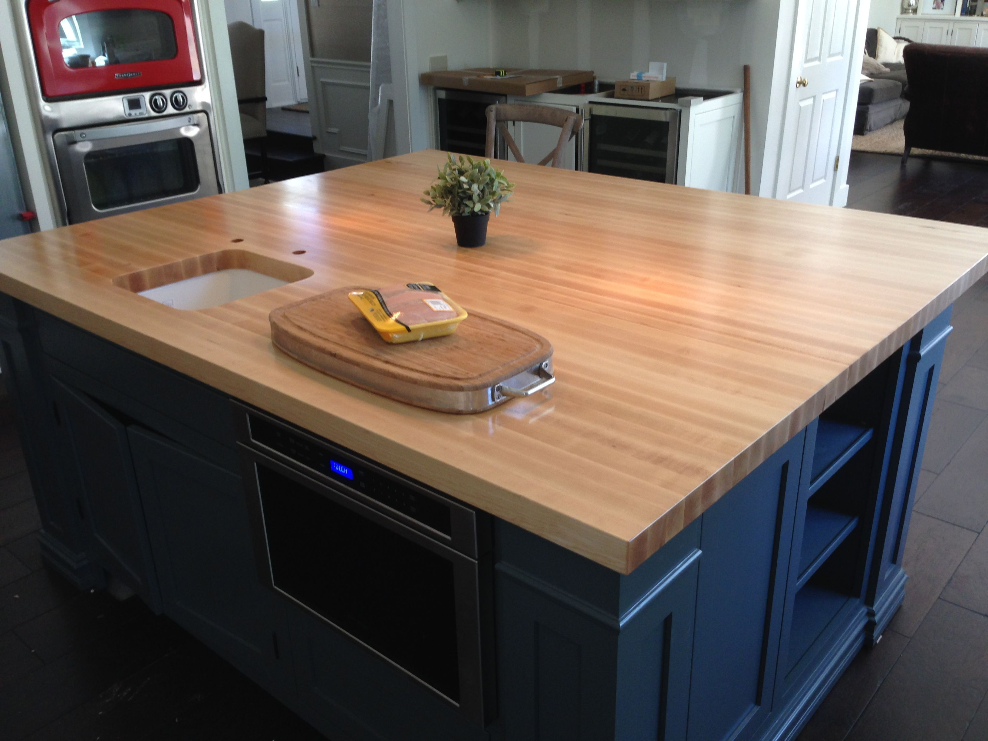 Maple Center Island Maple Countertop Maple Edge Grain Center