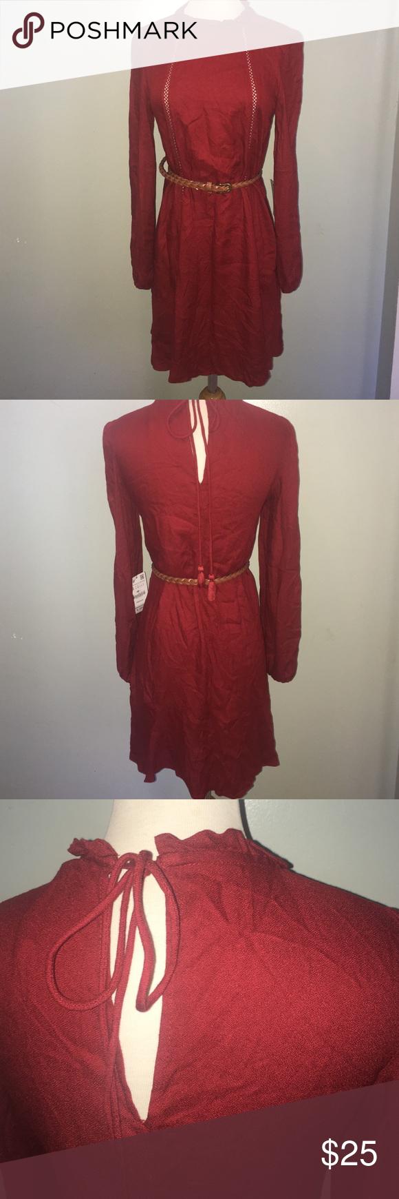 Zara burgundy dress another rich burgundy red dress never worn new